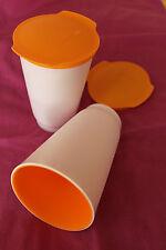 TUPPERWARE -Allegra Cup (2) Becher 450 ml -  in orange - Picknick