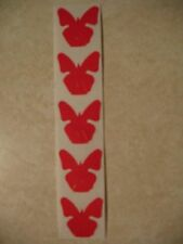 """*50* Red Butterflies Tanning Stickers """"Flat"""" not on a Roll"""