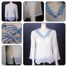 100% Cotton White Kaftan Bikini Cover up Summer Holiday Beach