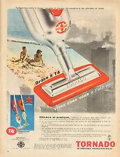 Publicité Advertising 1961  TORNADO aspirateur balai