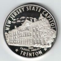 1964 CAPITOL MEDALS NEW JERSEY STATE CAPITOL TRENTON 999 SILVER MEDAL PROOF 1443