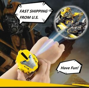 Kids Cartoon Watch Projector Transformers Bumblebee cosplay Lighting 24 images