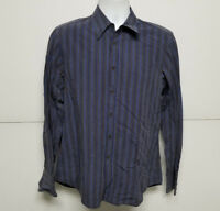 Miu Miu Mens Long Sleeve Blue Striped Button Down Shirt Size 42(16 1/2)