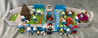 The Smurfs - Central Park Playset - 18 Figures 2011 - Fold Up Carry Case Playset