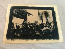 Vintage Signed War Protest 1960's or 1970's Lithograph Print ( Unknown Artist )