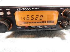🔥KENWOOD TM-231A MOBILE 2 METER RADIO +MARS/CAP w/8 PIN MIC VHF FM *MEMORY PROB