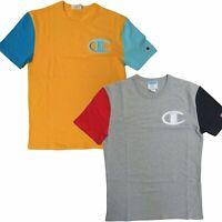 Champion Life Men's Heritage Tee, Colorblock C Logo Short Sleeve T-Shirt