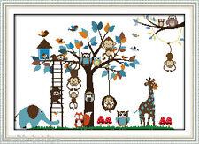 Handmade DIY Cross Stitch Embroidery Kit - Animal's Playground