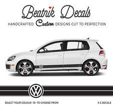 VW Golf Side Stripe Decals Stickers Vinyl Volkswagen Graphics Logo OEM Quality