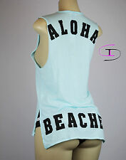 NWT VICTORIA'S SECRET PINK GRAPHIC TANK TOP XS  F181+