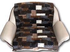 Couchschoner Patchwork 2-Sitzer Schoner Couchüberwurf 100x200 cm 100% Wolle