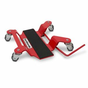 Motorcycle Dolly for Centre Stand Mover Constands red Motorbike Paddock Stand