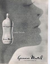 PUBLICITE ADVERTISING 064 1967 GERMAINE MONTEIL lotion rafraîchissante