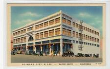 HOLMAN'S DEPT. STORE, PACIFIC GROVE: California USA postcard (C30269)