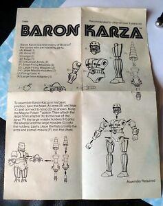 1977 MEGO BARON KARZA INSTRUCTION SHEET JAPAN