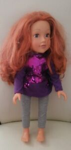 """Design A Friend 18"""" Strawberry Blonde Doll With Outfit"""