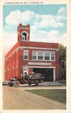 PALMYRA, LEBANON COUNTY, PA, CITIZEN'S FIRE CO #1, MAN & ENGINE, c. 1915-30