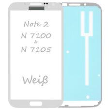 Frontglas Für Samsung Galaxy Note 2 N7100 Front Glas Weiß + Klebefolie