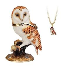 Secrets - Hidden Treasures Barn Owl Trinket Box NEW in Gift box - 25069
