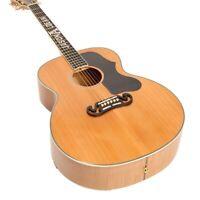 Top Quality Handmade Flamed Veneer Electric Acoustic Guitar Ebony Fingerboard
