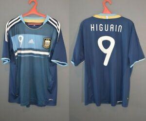Argentina Higuain #9 Football Soccer National Shirt Mens Jersey 2011/2012 XL