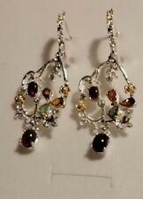 925 Silber Ohrringe mit kleinem Stein czEmailie, Leuchtente Farbe