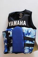 YAMAHA Neoprine 2-Buckle PFD Life Jacket Wake board Vest MAR-09VNP-BL-SM