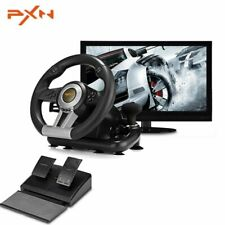 Driving Racing Game Controller Steering Wheel Brake Pedal F/ PC PS3 PS4 Xbox One