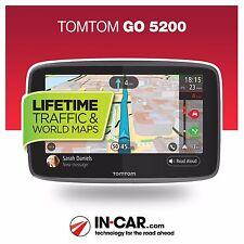 Brand New TomTom GO 5200 GPS Sat Nav Lifetime Traffic Wi-Fi World Map Updates