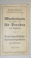 Wanderkarte für Dresden und Umgebung ,3farbig,1:130 000, Sonntagsrückfahrkarten