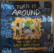 TURN IT AROUND -  STORY OF EAST BAY PUNK BLUE VINYL LP MINT NEW GREEN DAY RANCID