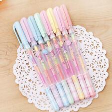 2pc Cute Highlighter Pen Marker Stationary Point Pen Ballpen 6 Color Hot Sale