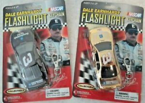 2X DALE EARNHARDT Keychain FLASHLIGHT  NEW & SEALED  2000 Goodwrench Chevy