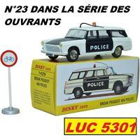 PEUGEOT 404 BREAK POLICE #1429 N°23 SERIE DES OUVRANTS PAR DINKY TOYS / ATLAS