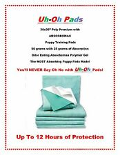 """50ct 36x36"""" Aborb-O-Max Maximum 12hr Puppy Training Pads ULTIMATE PROTECTION"""