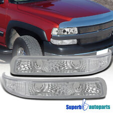 For 1999-2002 Silverado Bumper Lights Signal Lamps 2000-2006 Suburban Tahoe