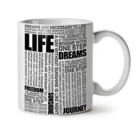 Life Freedom Dream NEW White Tea Coffee Mug 11 oz | Wellcoda