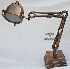 1930s French Industrial Articulated Table Lamp Maritime Home Decor Lamp
