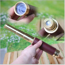 25X30 Zoom Brass Monoculars Pirate Telescope For Nautical Hiking Hunting Camping