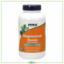 Now Foods Magnesium Oxide, Energy and Enzyme Support, Pure Powder, 227 g