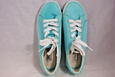 St Johns Bay Women's Size 6.5 M Baby Blue Canvas Sneakers Slip On Comfort Shoes