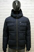 Tommy Hilfiger Uomo XL Giubbotto Cappotto Piumino Parka Giacca Bomber Jacket Blu