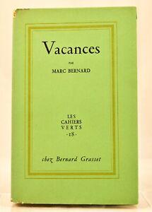🌓 EO Marc BERNARD | Vacances | Grasset | Envoi à Wladimir Poché | Ex. S.P. ALFA