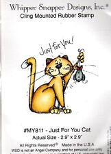 NEW WHIPPER SNAPPER cling Rubber Stamp  LOVE cat just for you free usa ship