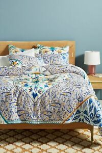 Anthropologie Elspeth Printed King Quilt - NEW