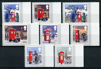GB 2018 MNH Christmas Letter Pillar Boxes 8v S/A Set Stamps