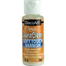 DecoArt DuraClear Poly Soft Touch Clear Varnish Finish 2 oz