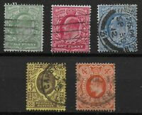 1911. Harrison Perf.15x14. Fine Used Set Of 5. Between SG279 & 286.  Ref.0872