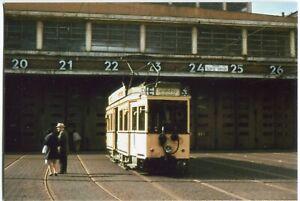 Orig. Foto BERLIN CHARLOTTENBURG Straßenbahn, Hof, Linie 53 nach Spandau 1967