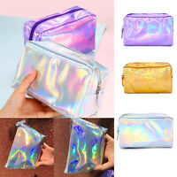 Women Waterproof Laser Cosmetic Makeup Bags Travel Toiletry Pouch Organizer Case